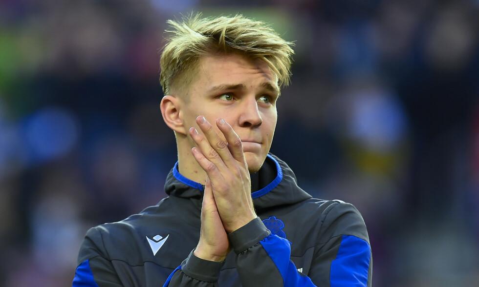 FULL STANS: Martin Ødegaard og Real Sociedad ligger på fjerdeplass i den spanske serien. Ingen vet når serien starter opp igjen. Foto: NTB scanpix