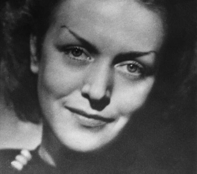 Karin Lannby rundt 1949. Etter andre verdenskrig byttet hun navn til Maria Cyliakus. Foto: NTB/Scanpix