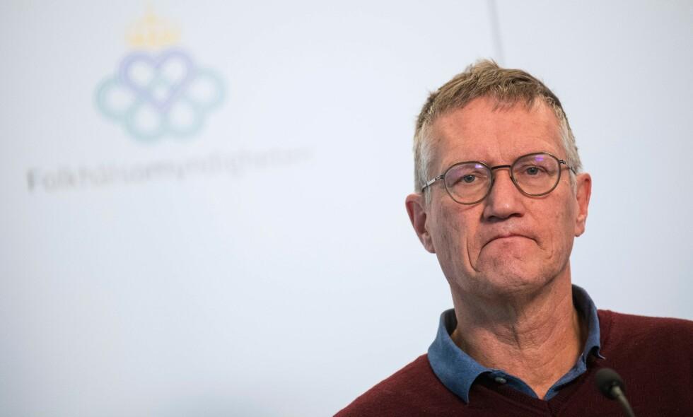 ANNEN FASE: Statsepidemiolog i Sverige, Anders Tegnell, mener Sverige er i annen fase i pandemien. Foto: Jonathan Nackstrand / AFP / NTB scanpix