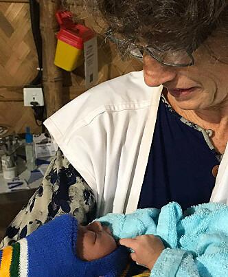 På sitt første oppdrag jobbet Caroline blant annet med en barselklinikk. Foto: Leger uten grenser