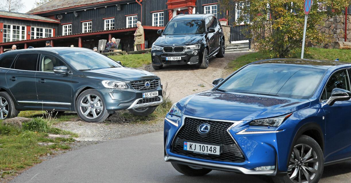 LUKSUSEN DU HAR RÅD TIL: De tre mellomklasse-SUV-ene kostet flesk da de var nye for seks år siden. Nå får du dem for prisen av en småbil. Foto: Espen Stensrud