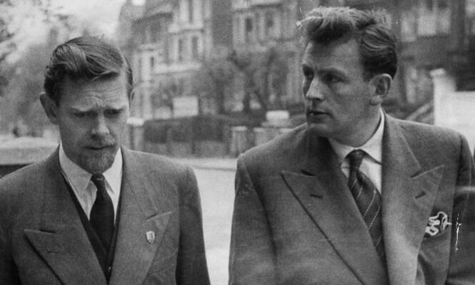 Clive Gunnell (til venstre) og Anthony Findlater vitnet i saken mot Ruth Ellis. Foto: Len Cassingham/Daily Mail/REX/NTB Scanpix
