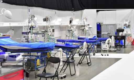 image: Feltsykehus tas i bruk etter 30 nye dødsfall i Stockholm