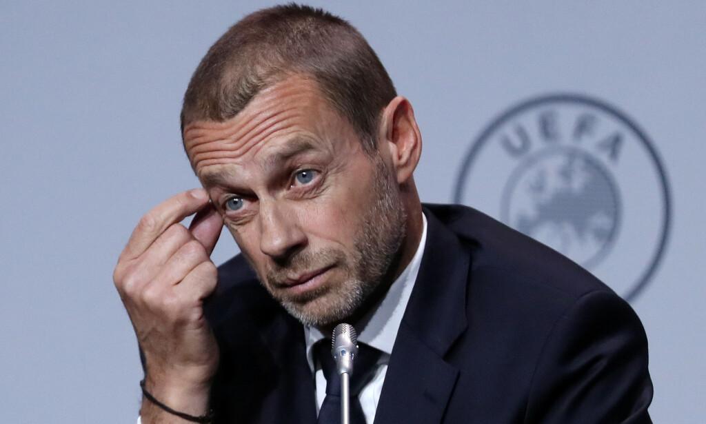 UEFA-SJEF: Aleksander Ceferin. Foto: NTB Scanpix