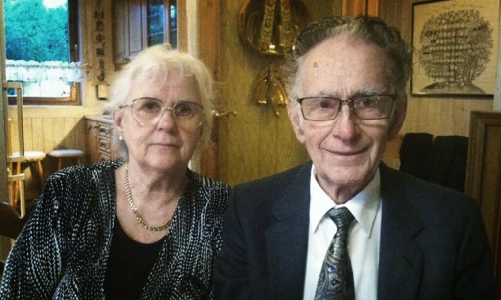 EKTEPAR: Birgit og Øystein Mogen hadde vært gift hele sitt voksne liv. Foto: Privat