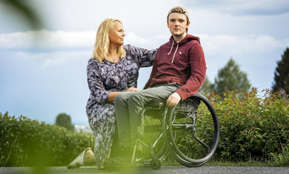 GA ALT: Marcus var optimist helt til det siste. Mamma Hanne gjorde en imponerende innsats for å redde sønnen, men den aggressive kreften lot seg ikke stoppe. Dette bildet er tatt i 2018. Foto: Espen Solli