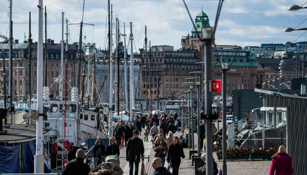 Stockholm 4. april. (Foto: Jonathan Nackstrand / AFP / NTB scanpic)