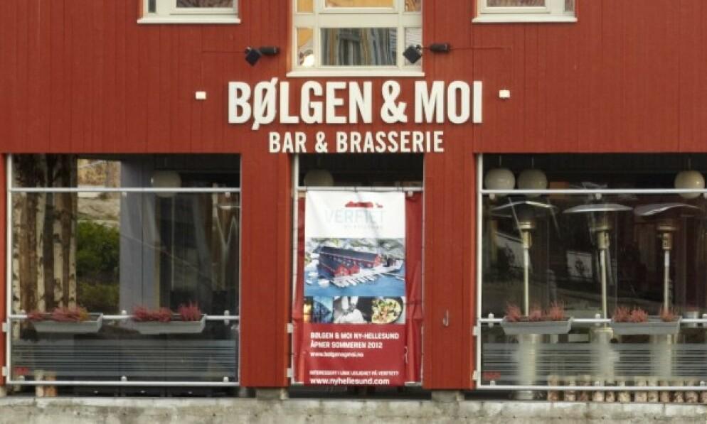STENGER: Restauranten Bølgen & Moi på fiskebrygga i Kristiansand begjærer oppbud. Foto: Tore Wuttudal / NN / Samfoto