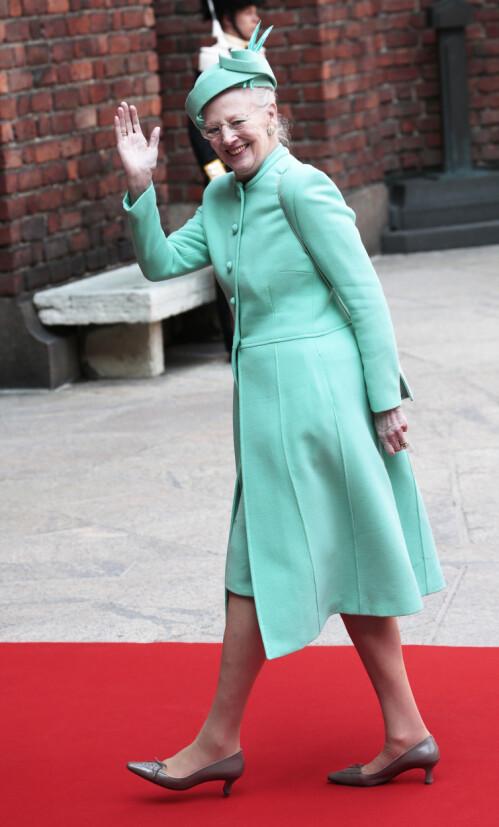 <strong>SPREK:</strong> Dronning Margrethe sier hun føler seg frisk og sprek selv om alderen stiger. Foto: NTB Scanpix
