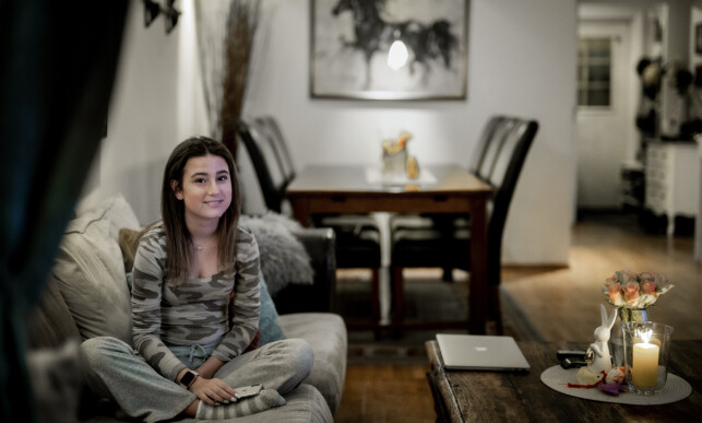 SKJERMET: Så langt har familien klart å skjerme Lea for corona-smitte. Foto: Bjørn Langsem/Dagbladet.