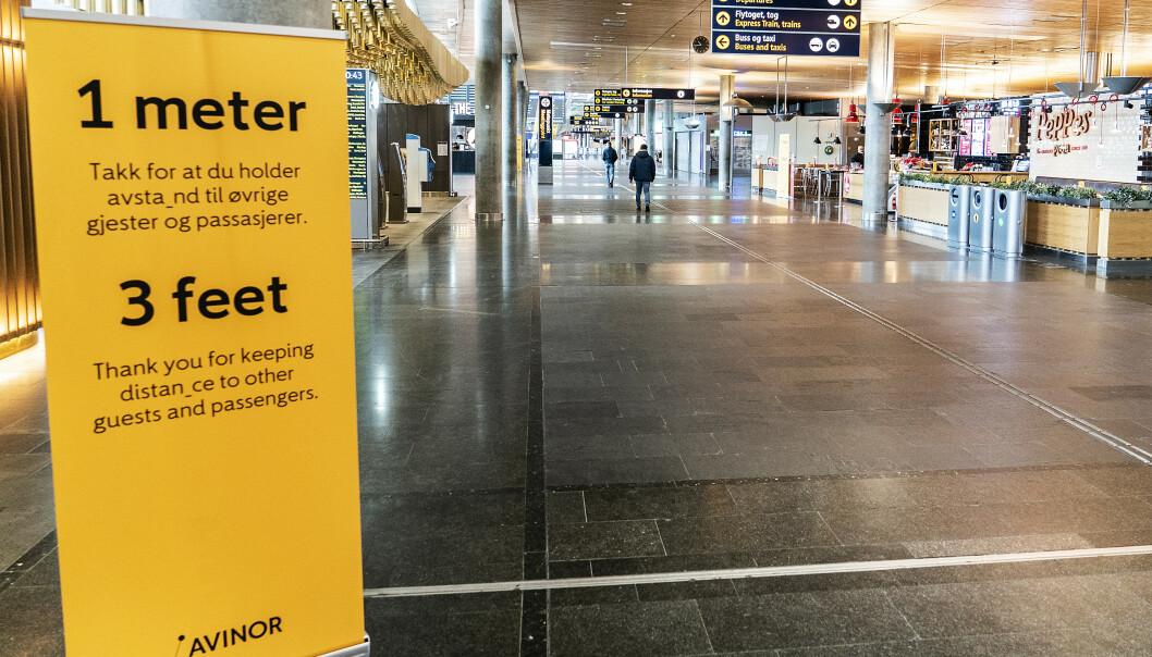 <strong>STILLE:</strong> Avinor anslår en nedgang i flytrafikken i påskeuken på mellom 90 og 95 prosent. Foto: Hans A. Vedlog / Dagbladet
