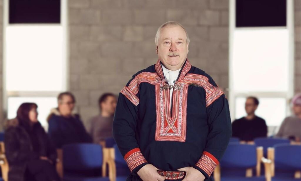 REDD: Kautokeinos ordfører Hans Isak Olsen (62) forteller at han er bekymret. Foto: Marie Louise Somby / Kautokeino kommune