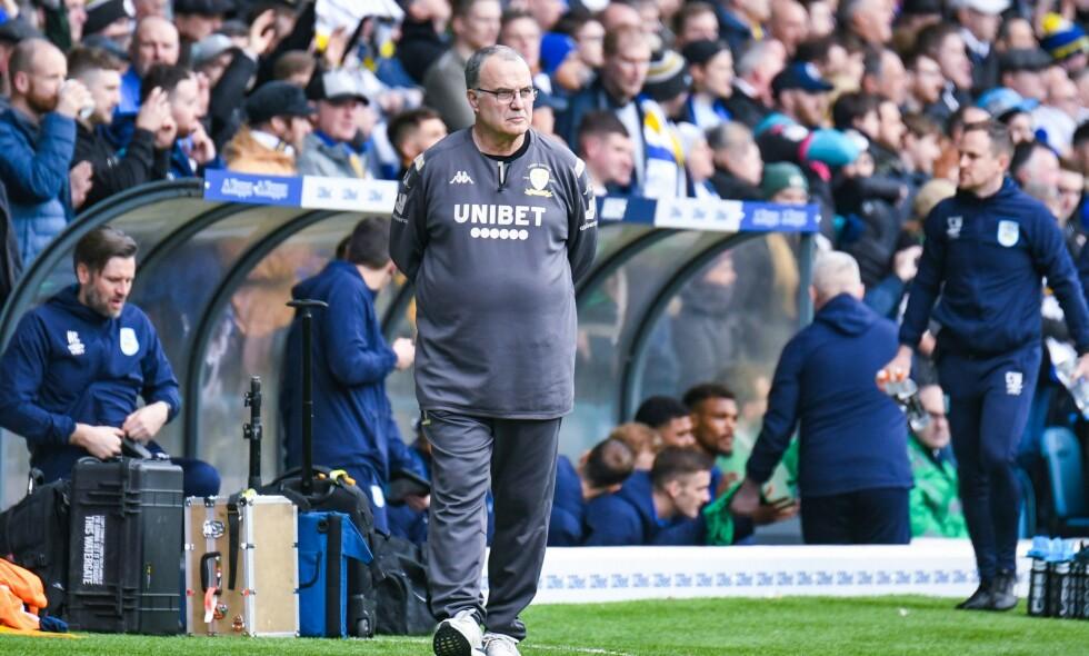 LIGGER AN TIL OPPRYKK: Men skjebnen til Marcelo Bielsa og Leeds er ennå ikke bestemt. Foto: NTB Scanpix
