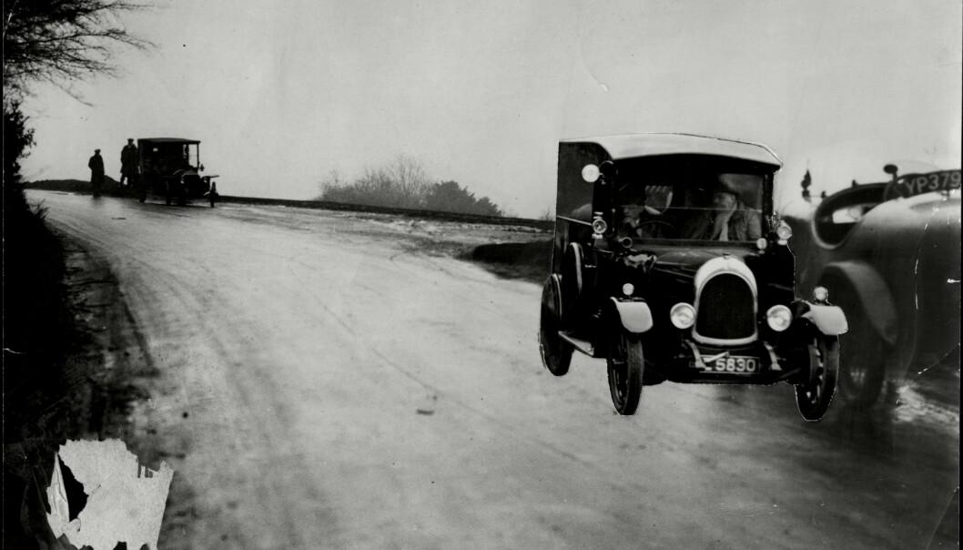 <strong>FØRSTE SPOR:</strong> Christies bil ble funnet forlatt, noe som sørget for enorme mengder konspirasjonsteorier. Foto. NTB scanpix