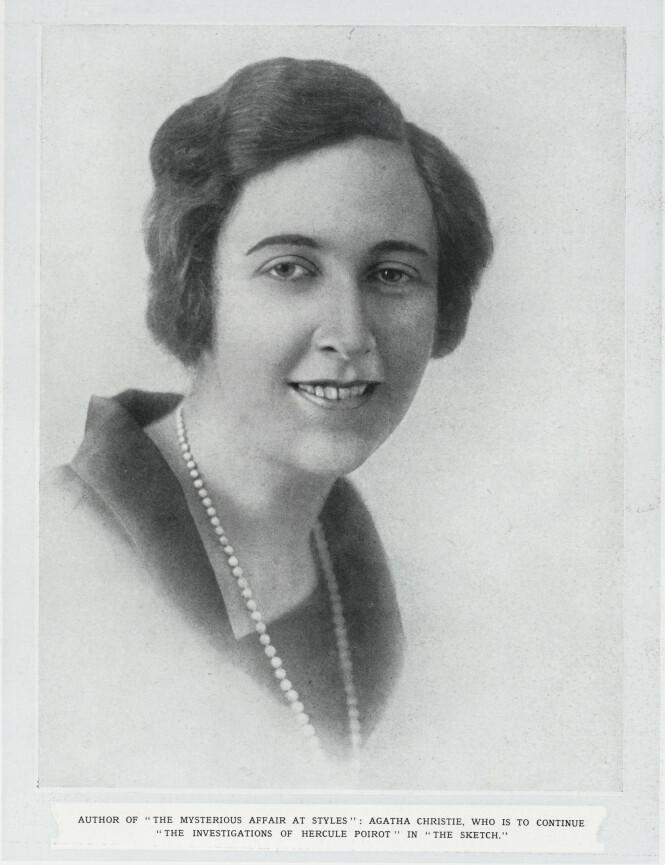 <strong>GODT KJENT:</strong> Agatha Christie ble en av verdens bestselgende forfattere med sine berømte krimbøker. Hennes eget liv kunne imidlertid fort ha stammet fra en av dem. Her er hun fotografert som ung. Foto: NTB scanpix