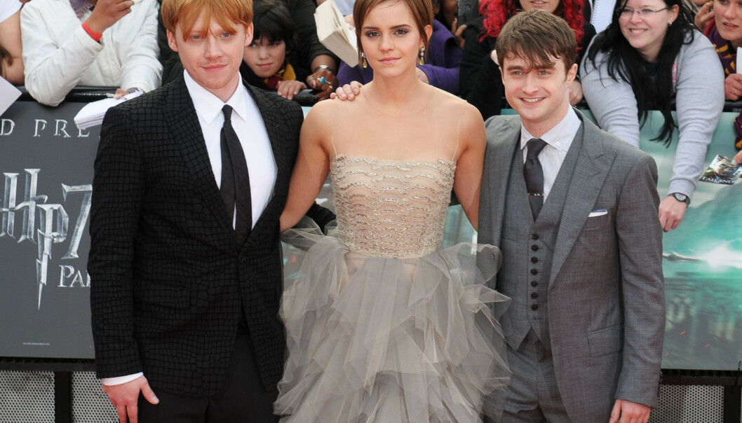 <strong>TRIO:</strong> Rupert Grint, Emma Watson og Daniel Radcliffe på premieren av den siste «Harry Potter»- filmen, «Harry Potter and the Deathly Hallows: Part 2» i 2011. Foto: Toby Hancock/REX