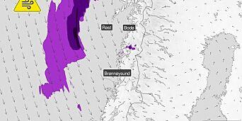 image: Kan komme 25 cm snø på 24 timer