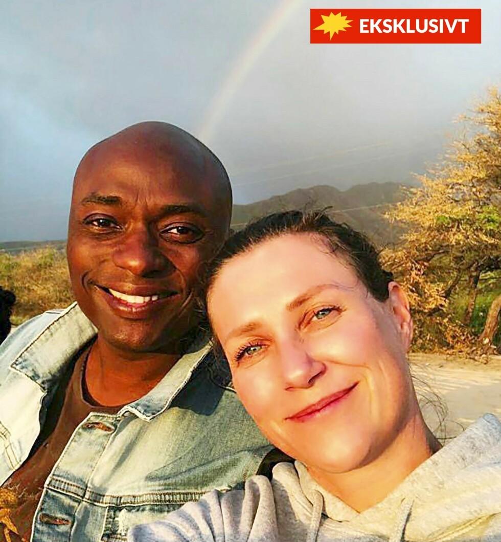 VED REGNBUENS ENDE: Märtha og Durek har hatt en romanse med sterke kjærlighetserklæringer og store følelser. Durek kan ikke lenger se for seg et liv uten sin prinsesse. Her et eksklusivt, privat bilde fra Hawaii-ferien i februar som Se og Hør har fått tilgang til i forbindelse med dette intervjuet.