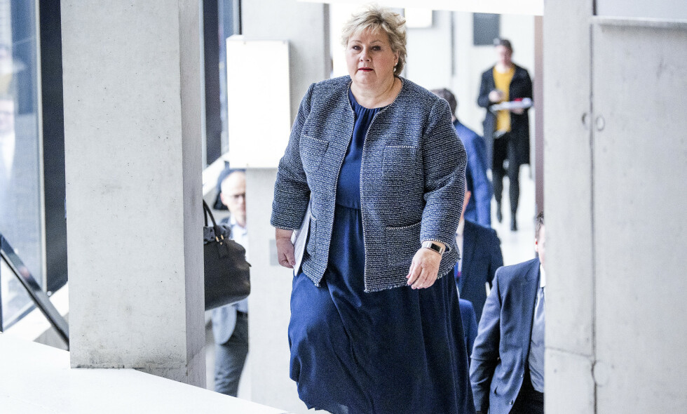 CORONALOVEN: Statsminister Erna Solberg og regjeringen har fått videre fullmakter under coronaloven. Foto: Bjørn Langsem / Dagbladet