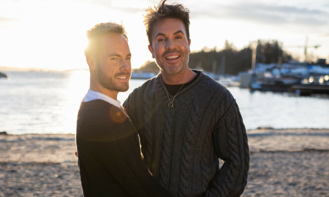 <strong>SAMMEN:</strong> Harlem og Jan Thomas sammen i Norge. Paret tilbringer mye tid sammen om dagen, og nyter hverandres selskap. Foto: Daniel Sandland