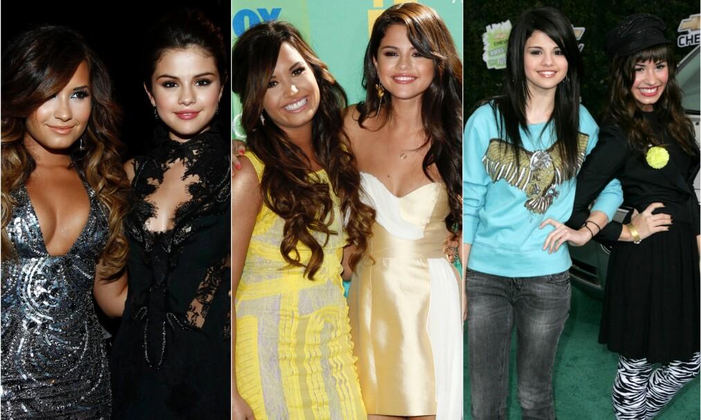 <strong>VAR NÆRE VENNINNER:</strong> I 2011 var Demi Lovato og Selena Gomez sammen på både MTV Video Music Awards og på Teen Choice Awards. På bildet helt til høyre deltok de sammen på et annet event i Los Angeles tre år tidligere. Foto: NTB Scanpix