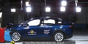 image: Tesla Model X i kollisjonstest
