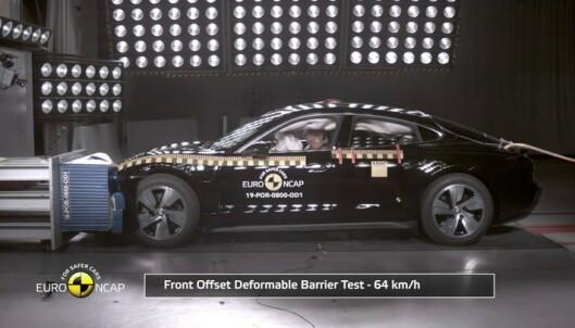 Porsche Taycan i kollisjonstest