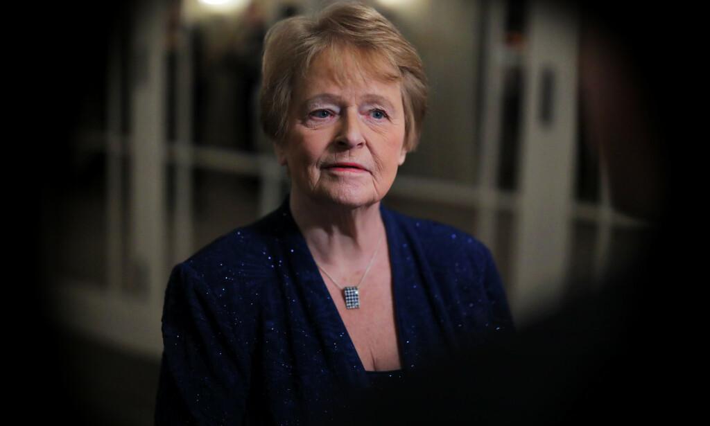Gro Harlem Brundtland i Oslo i desember i fjor forbindelse med utdelingen av Nobels fredspris. Foto: Ørn E. Borgen / NTB scanpix