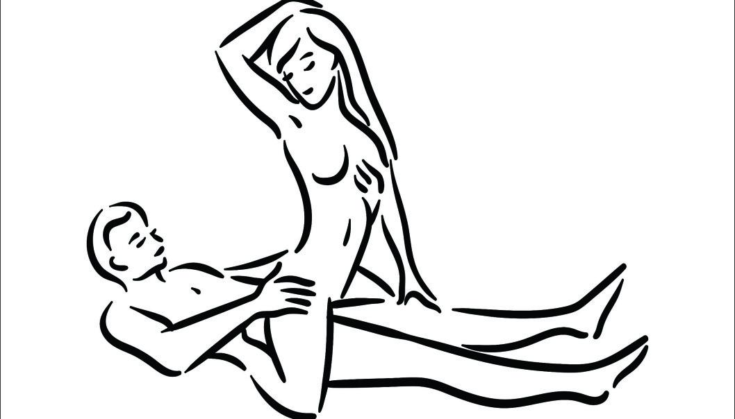 SITT VENDT MOT PARTNEREN DIN: Denne stillingen gir masse plass til klitorisstimulering og muligheter for massasje/stimulering andre steder på kroppen. FOTO: NTB Scanpix
