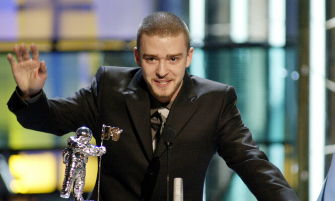 <strong>SUKSESS:</strong> Justin Timberlake vant en MTV-Award for beste musikkvideo for «Cry Me a River» i 2003. Foto: NTB Scanpix