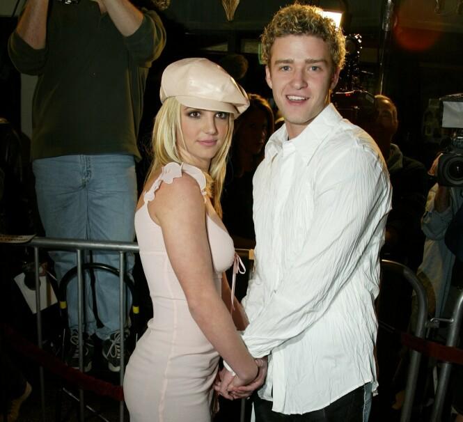 DEN GANG DA: Britney Spears og Justin Timberlake fotografert under en filmpremiere i 2002 - kort tid senere ble det slutt. FOTO: NTB scanpix