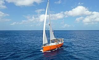 ÅPENT HAV: Familien Lien/Nordhagen ønsker å kaste loss med båten «Vaki Vaki», krysse Atlanteren og komme hjem. Foto: Privat