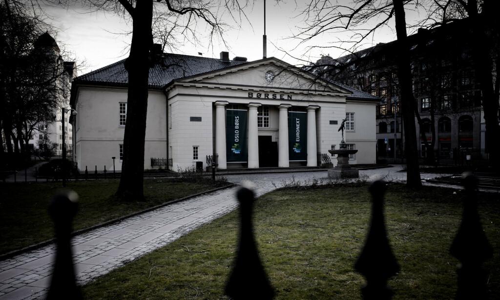 OPP: Oslo Børs på ukens siste handeldag. Foto: Lars Eivind Bones