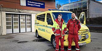 image: På innsiden av corona-ambulansen