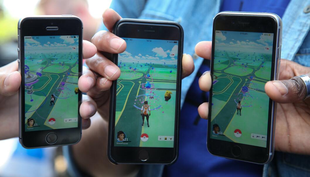 <strong>POPULÆRT:</strong> Pokémon Go ble en viralhit da det ble lansert i 2016, og selv om bruken etter hvert har gått ned, er det fortsatt mange som spiller det. Foto: Dinendra Haria / REX / Shutterstock / NTB Scanpix