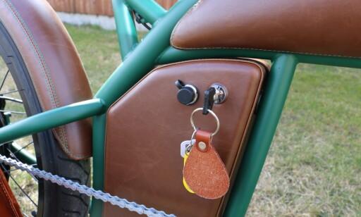 Batterilomma er i samme stil som resten av sykkelen. Foto: Martin Kynningsrud Størbu