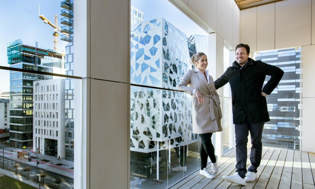 LUKSUSBOLIG: Helene Solberg og Hans Houeland blir samboere i en splitter ny leilighet i Oslo sentrum. Foto: Lars Eivind Bones / Dagbladet