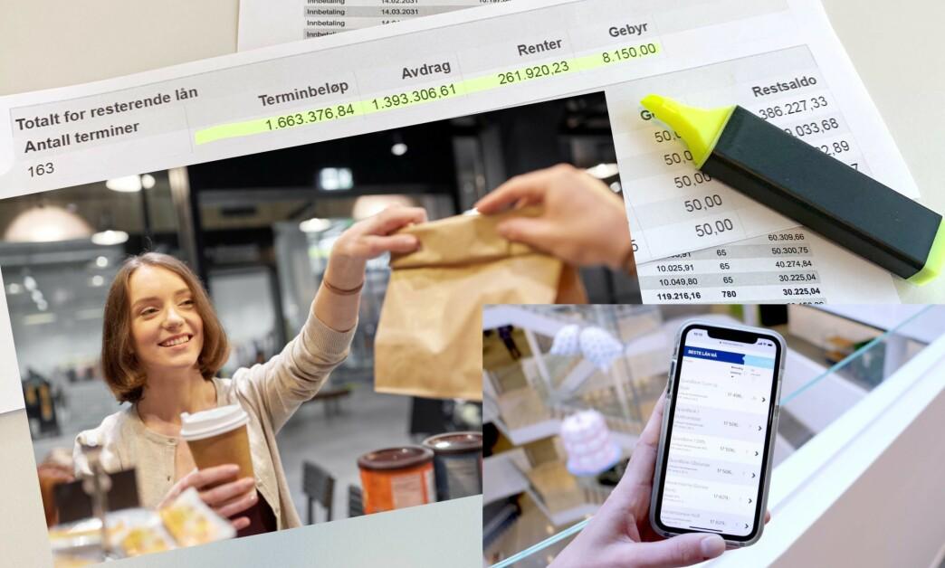 <strong>HVOR DU KAN SPARE MEST:</strong> Bankdirektør og forbrukerøkonom er uenige om hvor det er mest å spare - på boliglån eller småbeløp i hverdagen. Les mer i saken under, og se hva Dinside fant ut da vi sjekket. Foto: Shutterstock og Eilin Lindvoll.