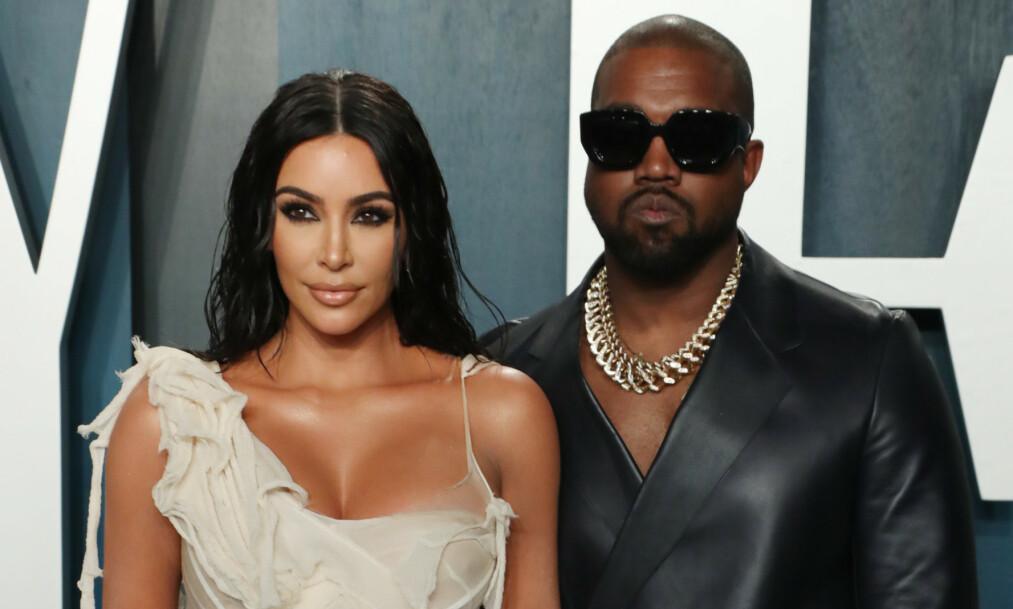 <strong>ÅPEN:</strong> I et nytt intervju med GQ forteller Kanye West om fortida med alkoholavhengighet. Her avbildet med kona Kim Kardashian West. Foto: NTB Scanpix