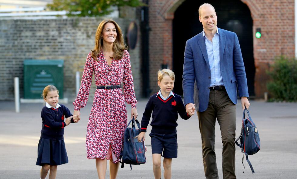 FØLTE SEG SLEM: Hertuginne Kate innrømmer i et intervju med BBC at hun ikke lot barna sine få fri fra hjemmeskole i påskeferien. Foto: NTB Scanpix