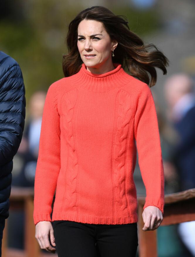 <strong>FØLTE SEG ISOLERT:</strong> Hertuginne Kate har flere ganger fortalt åpenhjertig om hvordan hun takler morsrollen. Foto: NTB Scanpix