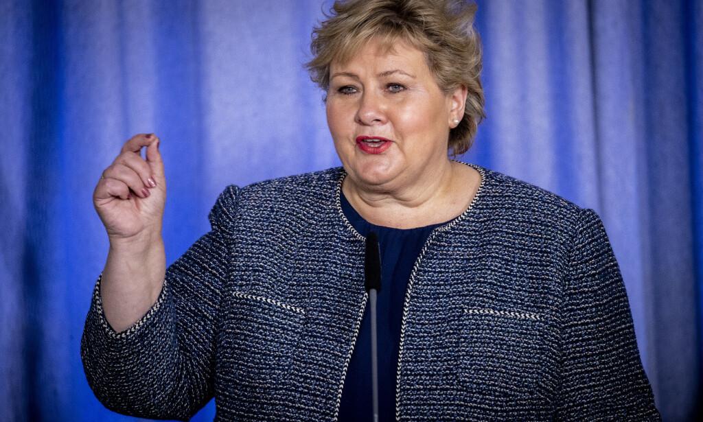 Oslo 20200331: Statsminister Erna Solberg p pressekonferanse i forbindelse med coronasituasjonen . Foto: Bjrn Langsem / Dagbladet