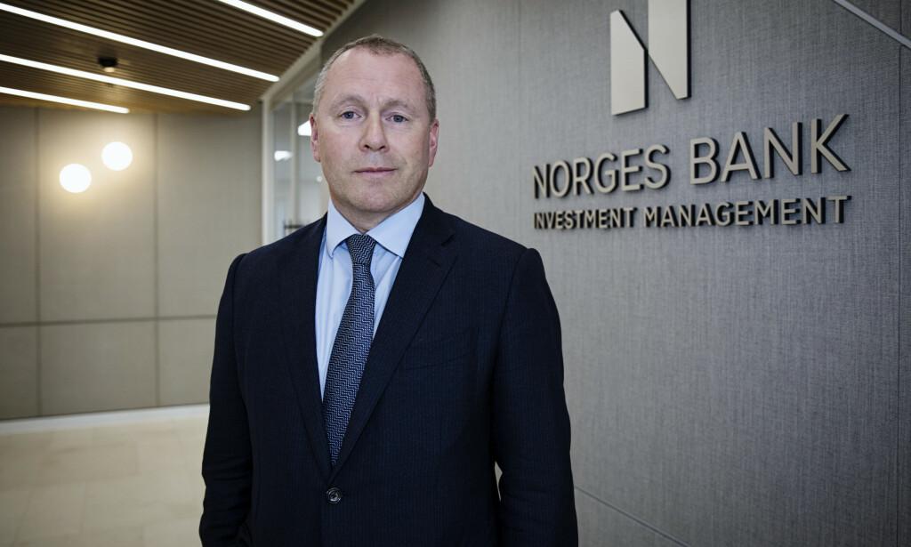 NY SJEF: Nicolai Tangen er sjef i oljefondet, Statens pensjonsfond. Han ble tilsatt i slutten av mars. Foto: Nina E. Rangoy / NTB scanpix