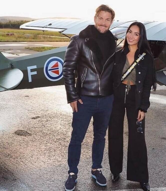 <strong>NYFORLOVET:</strong> Kjell-Ola Kleiven sammen med sin kjære Benedicte Angelica Tehrani. Foto: Privat
