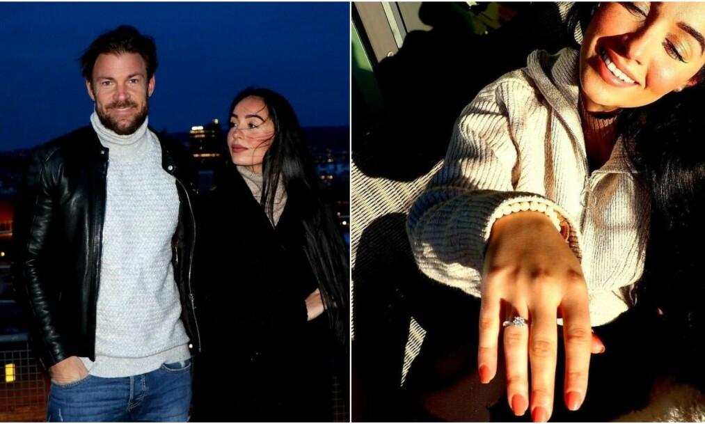 <strong>FORLOVET:</strong> Søndag kveld røper tidligere programleder Kjell-Ola Kleiven at han har forlovet seg med samboeren Benedicte Angelica Tehrani. Foto: Privat