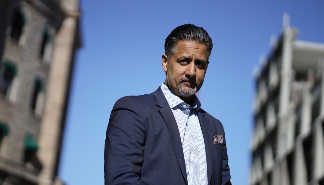 Kultur- og likestillingsminister Abid Raja under et pressemte om coronasituasjonen i Norge.  Foto: Hkon Mosvold Larsen / NTB scanpix