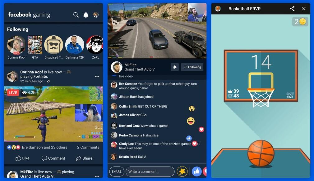 SATSER ENDA MER PÅ SPILL: Facebook Gaming er den nye spillappen fra sosiale medier-giganten. Foto: Facebook