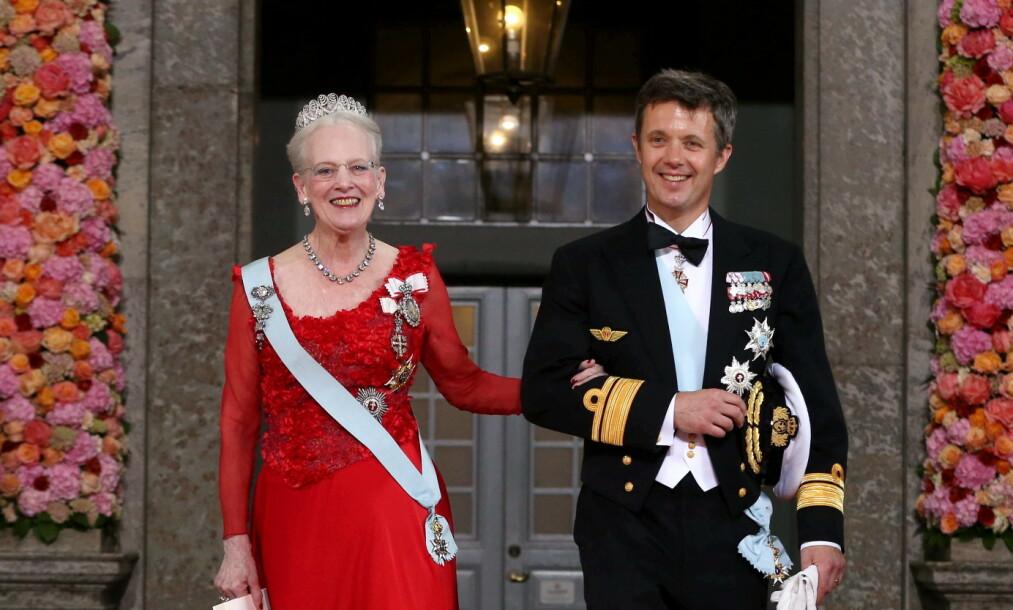 <strong>MISTER KRONING:</strong> Dronning Margrethe er klar på at hun ikke vil være til stede under sønnens viktigste dag - nemlig kroningen. Hun vil nemlig være død. Foto: NTB Scanpix
