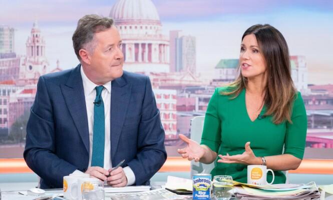 <strong>KRITISK:</strong> Da Piers Morgan langet ut mot stjerneparet, påpekte hans med-programleder, Susanna Reid, at krisepakkene ikke kun er for mindre bedrifter - og at duoen også betaler deler av lønnen til de ansatte. Foto: NTB Scanpix
