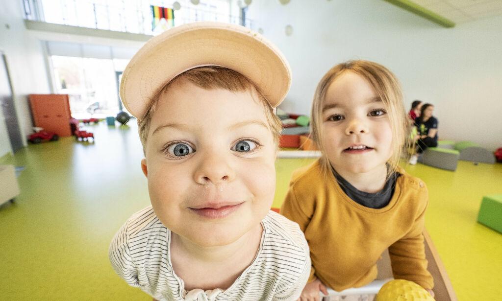 image: Slik var «første» dag i barnehagen